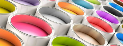 Farbeimer im Digitaldruck und Offsetdruck