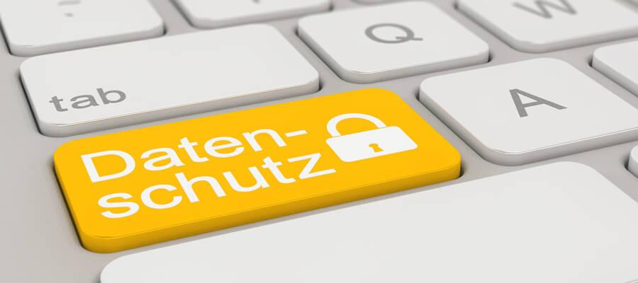 Tastatur mit Datenschutztaste