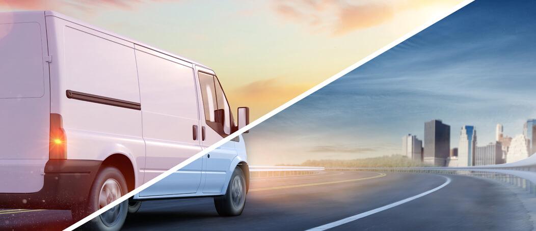 Ausland Express-Versand Lieferwagen