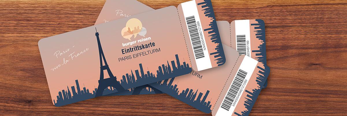 Individualisierte Druckprodukte Eintrittskarte mit Code